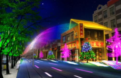 北京石景山区楼体亮化-台湾街